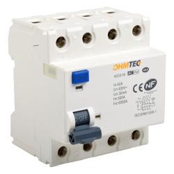 Interrupteur différentiel 3P+N 6kA 63A type AC